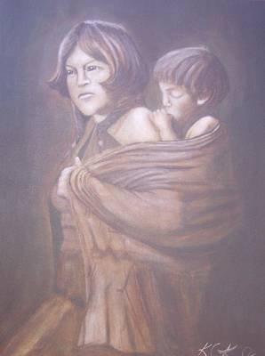 Hopi Mother Art Print by KC Knight