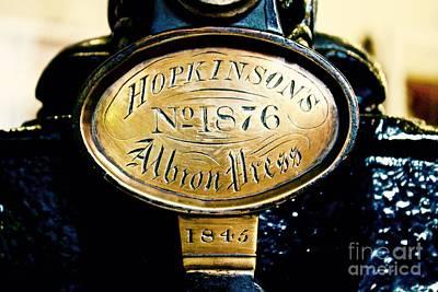 Photograph - Hopkinson's Albron Press by Phil Cappiali Jr