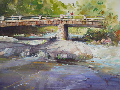 Painting - Hopper Bridge Creek by P Anthony Visco