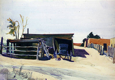 Shed Digital Art - Hopper Edward Adobes And Shed New Mexico by Edward Hopper