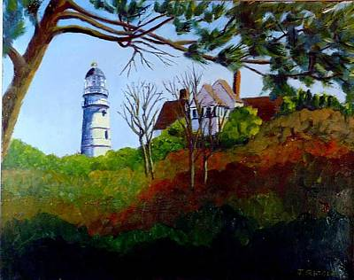 Painting - Hopper's Lighthouse by Jack Riddle