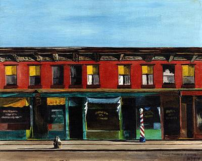 Painting - Hopper's Sunday Morning by Stuart B Yaeger