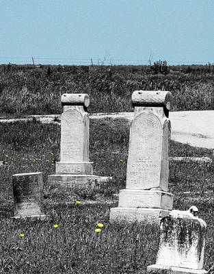 Photograph - Hopping Cemetery by Amy Jo Garner