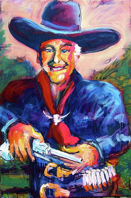 Painting - Hoppy's Got A Gun by Les Leffingwell