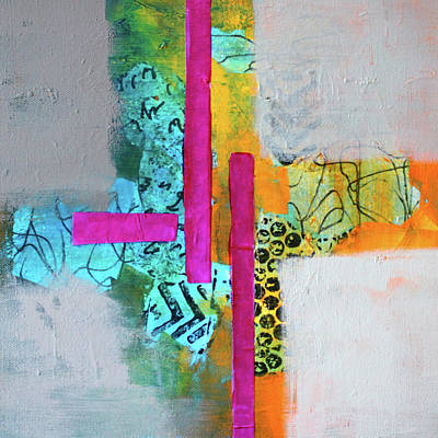 Mixed Media - Hopscotch by Nancy Merkle