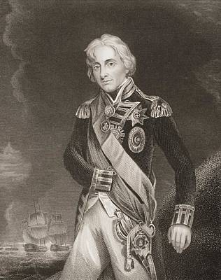 Lord Drawing - Horatio Nelson,lord Nelson,viscount by Vintage Design Pics