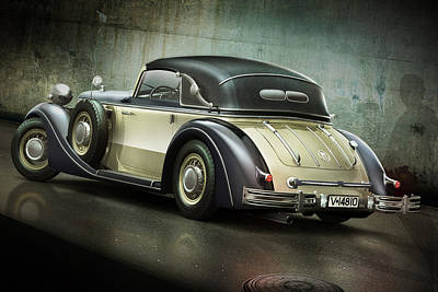 Digital Art - Horch 853a by Maye Loeser