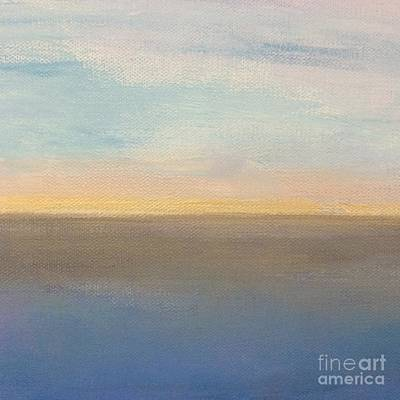 Art Print featuring the painting Horizon Aglow by Kim Nelson