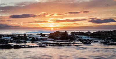 Art Print featuring the photograph Horizon In Paradise by Heather Applegate