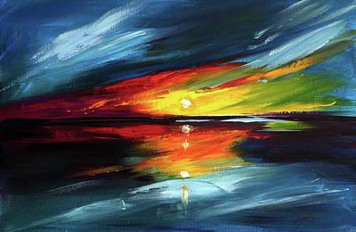 Horizon Painting - Horizon by Kovacs Anna Brigitta