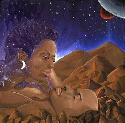 Geb Painting - Horizons When Geb Met Nut by Rufus Royster