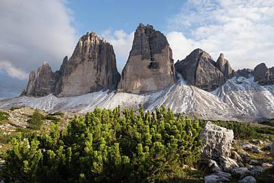 Photograph - Horizontal Image Of Tre Cime Di Lavaredo In Dolomites Mountains, Italy, Europe by Blaz Gvajc