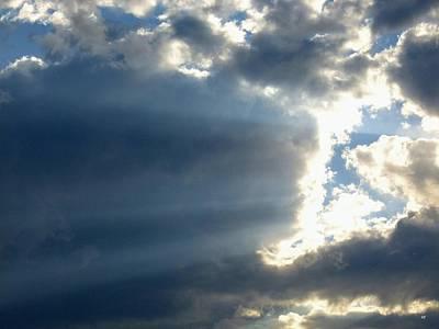 Photograph - Horizontal Sun Rays by Will Borden