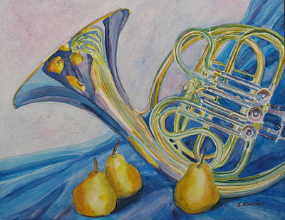 Pear Watercolor Painting - Horn Danjou by Jenny Armitage
