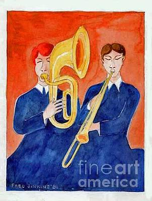 Painting - Horn Duo by Fred Jinkins