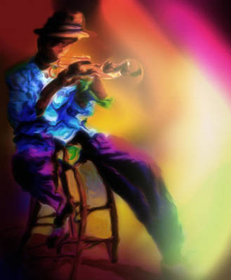 Painting - Horn Player 1 by Mike Massengale