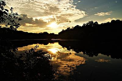Photograph - Horn Pond Lagoon Sunset X by Joe Faherty