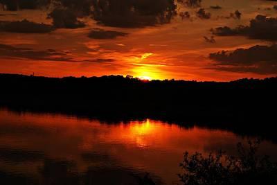 Photograph - Horn Pond Sunset June A by Joe Faherty