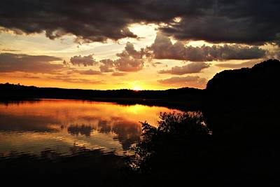 Photograph - Horn Pond Sunset June B by Joe Faherty