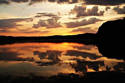 Photograph - Horn Pond Sunset June C by Joe Faherty