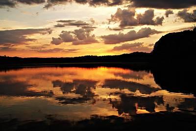 Photograph - Horn Pond Sunset June C by Joe Faherty