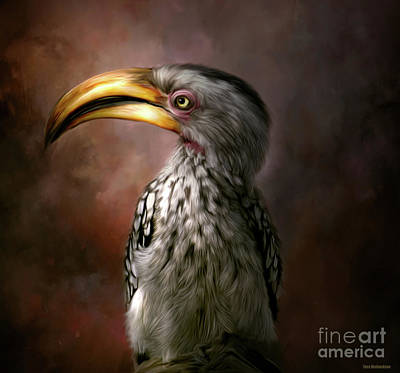 Painting - Hornbill Birdie by Tara Richardson
