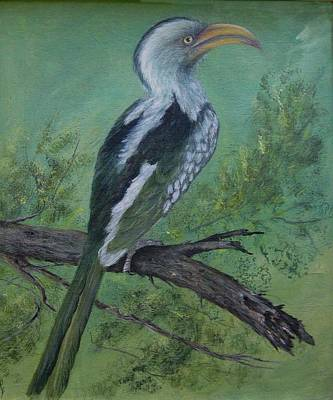 Hornbill Painting - Hornbill by Rita Palm