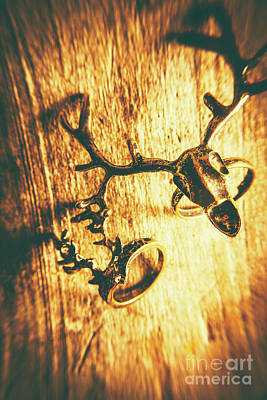 Engagement Photograph - Horned Animal Rings by Jorgo Photography - Wall Art Gallery