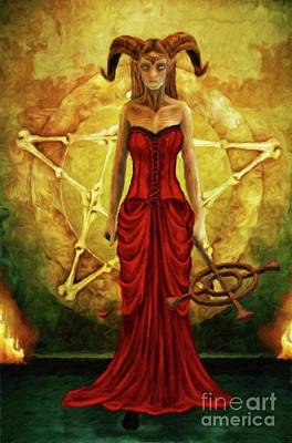 Fantasy Royalty-Free and Rights-Managed Images - Horned Queen by Sarah Kirk by Sarah Kirk
