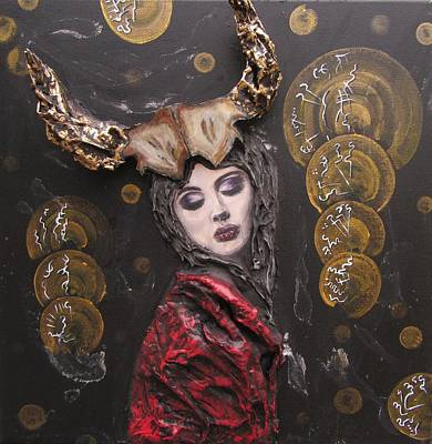 Painting - Horned Queen by J Edward Neill