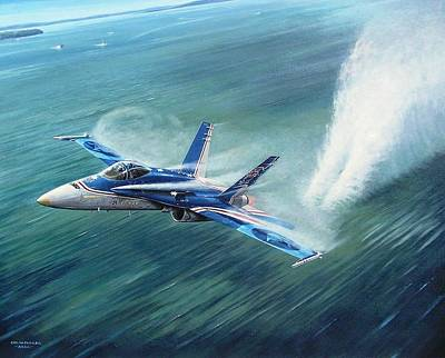 Painting - 'hornet 20th Anniversary Over Myall Lake Nsw' by Colin Parker