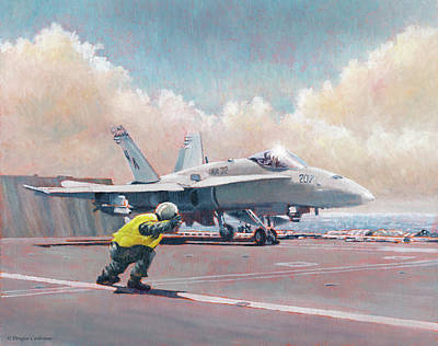 Painting - Hornet Launch by Douglas Castleman