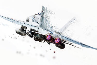F-18 Digital Art - Hornet Shatter by J Biggadike