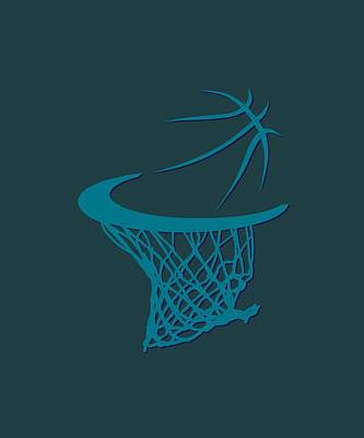Hornets Basketball Hoop Art Print