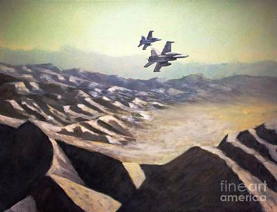 Corps Painting - Hornets Over Afghanistan by Stephen Roberson