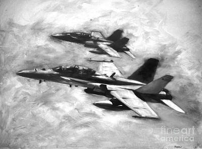 Hornet Painting - Hornets by Stephen Roberson