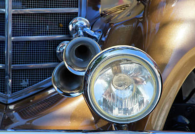 Photograph - Horns And Headlight by Arthur Dodd