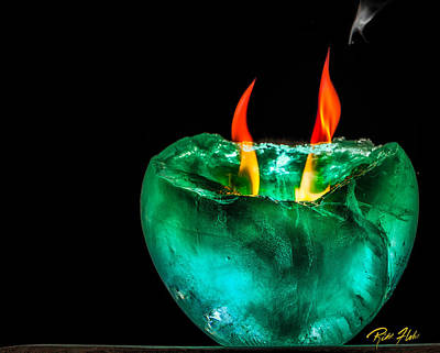 Photograph - Horns Of Flame  by Rikk Flohr