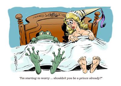 Horny Toad. Art Print