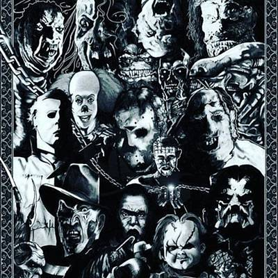 Horror Photograph - Horror Collage For The Avid Horror Fan by XPUNKWOLFMANX Jeff Padget