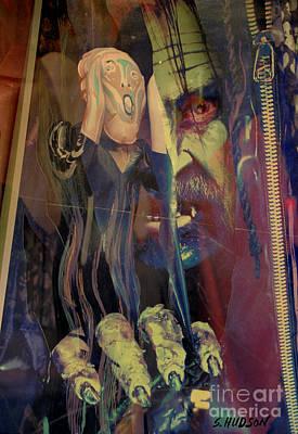Photograph - horror fantasy art - The Green Scream by Sharon Hudson