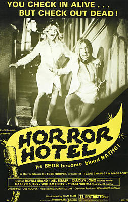 1960s Poster Art Photograph - Horror Hotel, Aka City Of The Dead by Everett