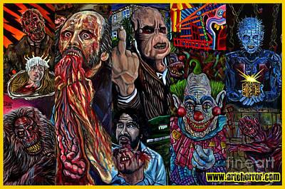 Horror Print by Jose Mendez