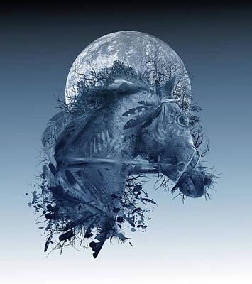 Digital Art - Horse 2 by Bekim Art