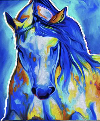 Horse 3a By Nixo Art Print