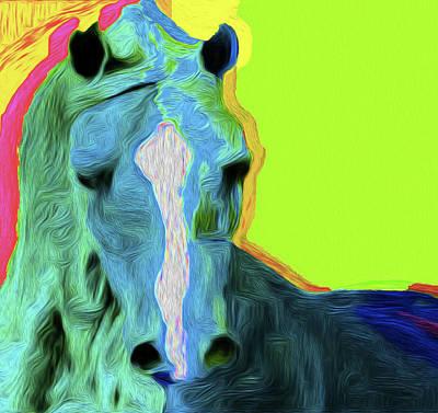 Horse 4747 Nicholas Nixo Efthimiou Art Print