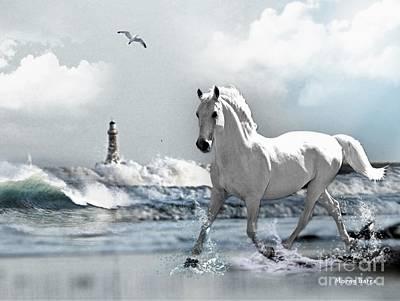 Photograph - Horse A Roker Pier by Morag Bates