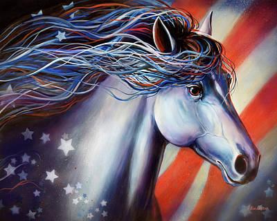Horse Purse Painting - Horse, American Joy, Kim Kubens by Kim Kubena