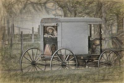 Photograph - Horse And Buggy Ride  by Dyle   Warren