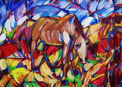 Painting - Horse And Cat Meet by Dianne Connolly